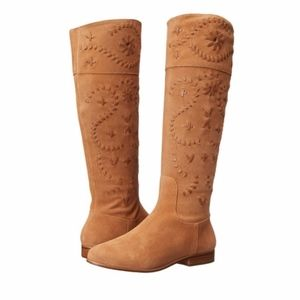 Jack Rogers Tara Suede Tall Riding Boots Size 9